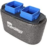 Dexas ice•ology Clear Ice Cube Tray, 2 Cubes