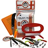 Vigilant Trails Pre-Packed Survival Fishing Kit Stage One. Includes Large Hand Reel to Keep Your Line Organized, Terminal Tac