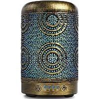 SALKING Aroma diffuser, 100ml metalen ultrasone aromatherapie diffuser voor etherische oliën, 7 kleuren nachtlampje…