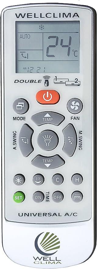 Wellclima One Universal Fernbedienung Für Klimaanlage Mit Den Bekanntesten Marken Kompatibel U A Küche Haushalt