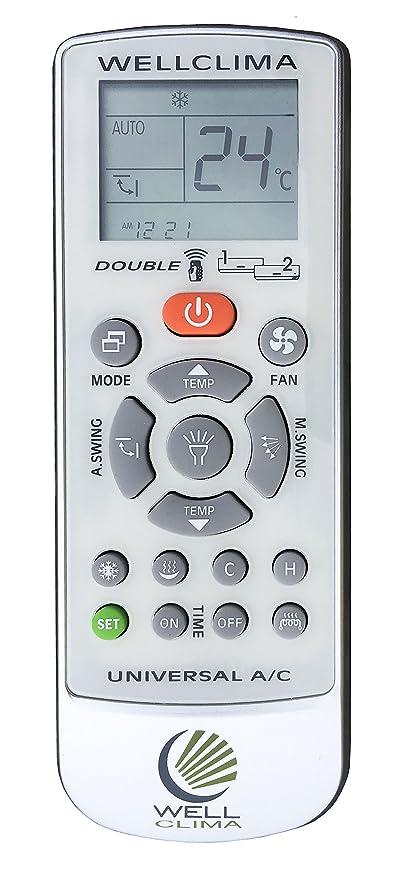 Telecomando Universale Per Condizionatore Climatizzatore D Aria Wellclima Double Compatibile Con I Principali Marchi Tra Cui Aermec Airwell