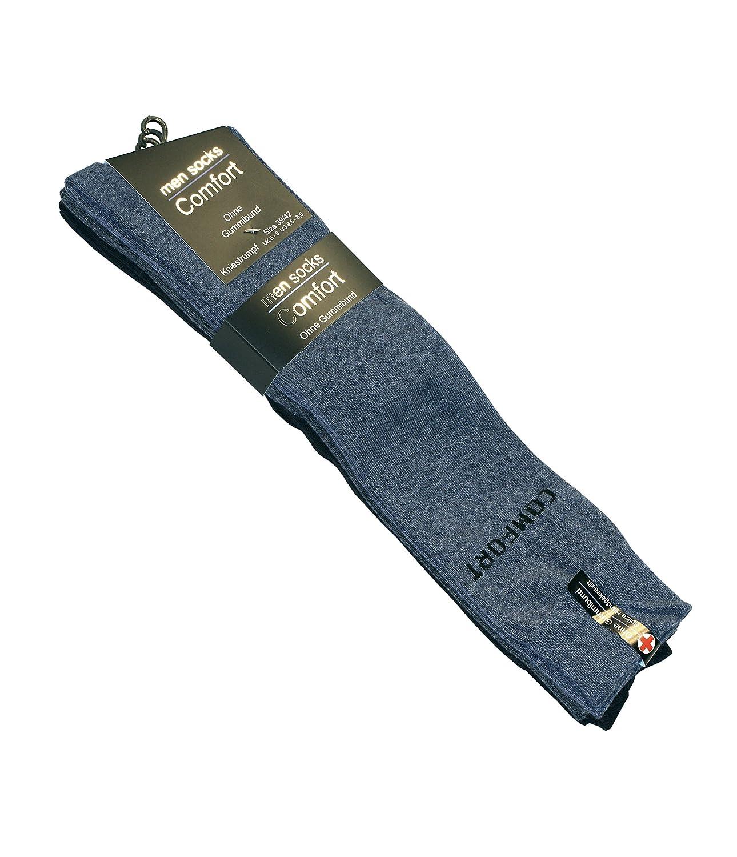 3 Pair Mens knee high cotton rich Plain Socks,