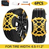 SUPTEMPO Car Snow Chains, 6Pcs Emergency Anti Slip Tire Traction Chains Upgraded TPU Snow Chain for Light Truck/SUV/ATV…