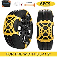 $36 » SUPTEMPO Car Snow Chains, 6Pcs Emergency Anti Slip Tire Traction Chains Upgraded TPU Snow…