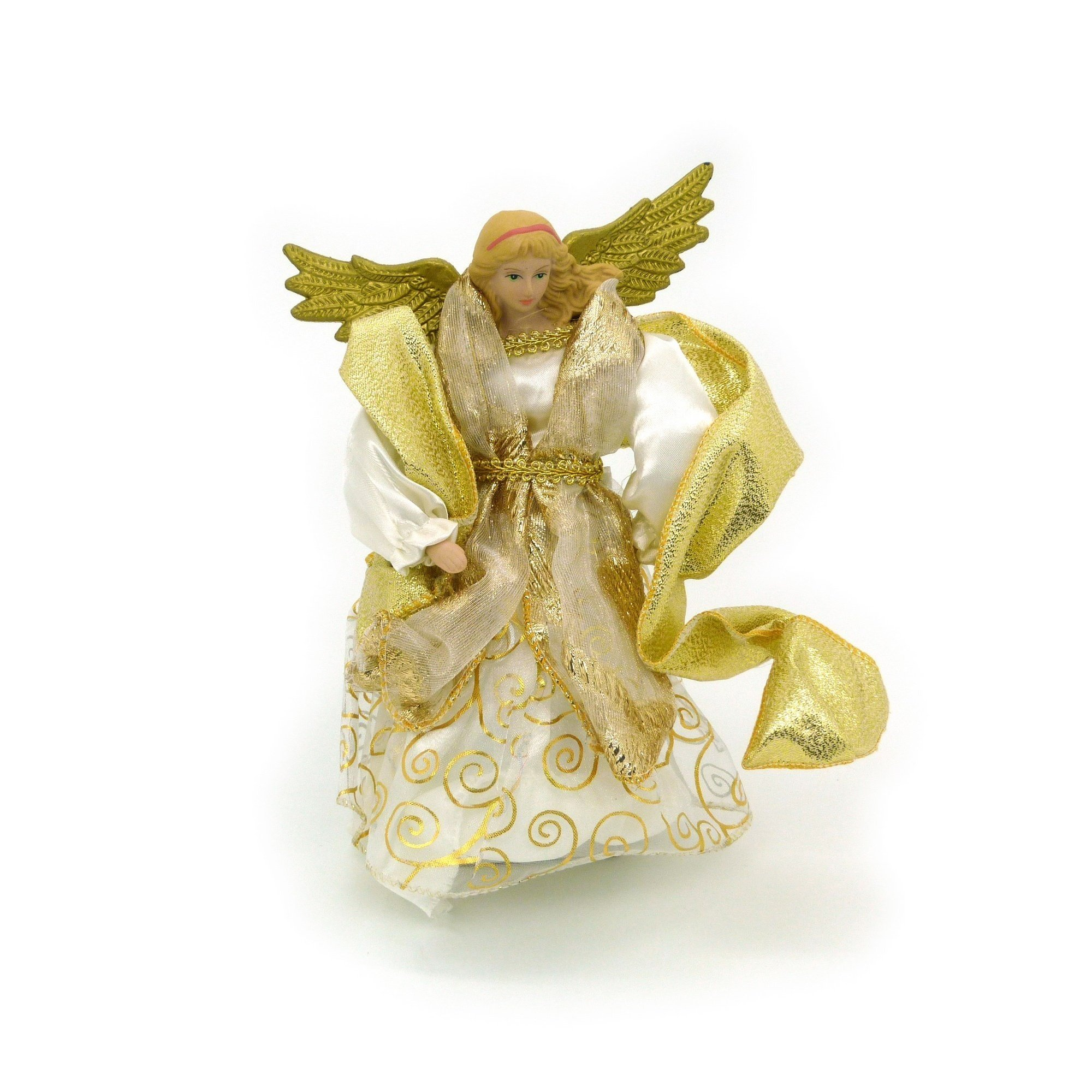 Christmas Shop Traditional Tree Topper Angel (One Size) (Gold)