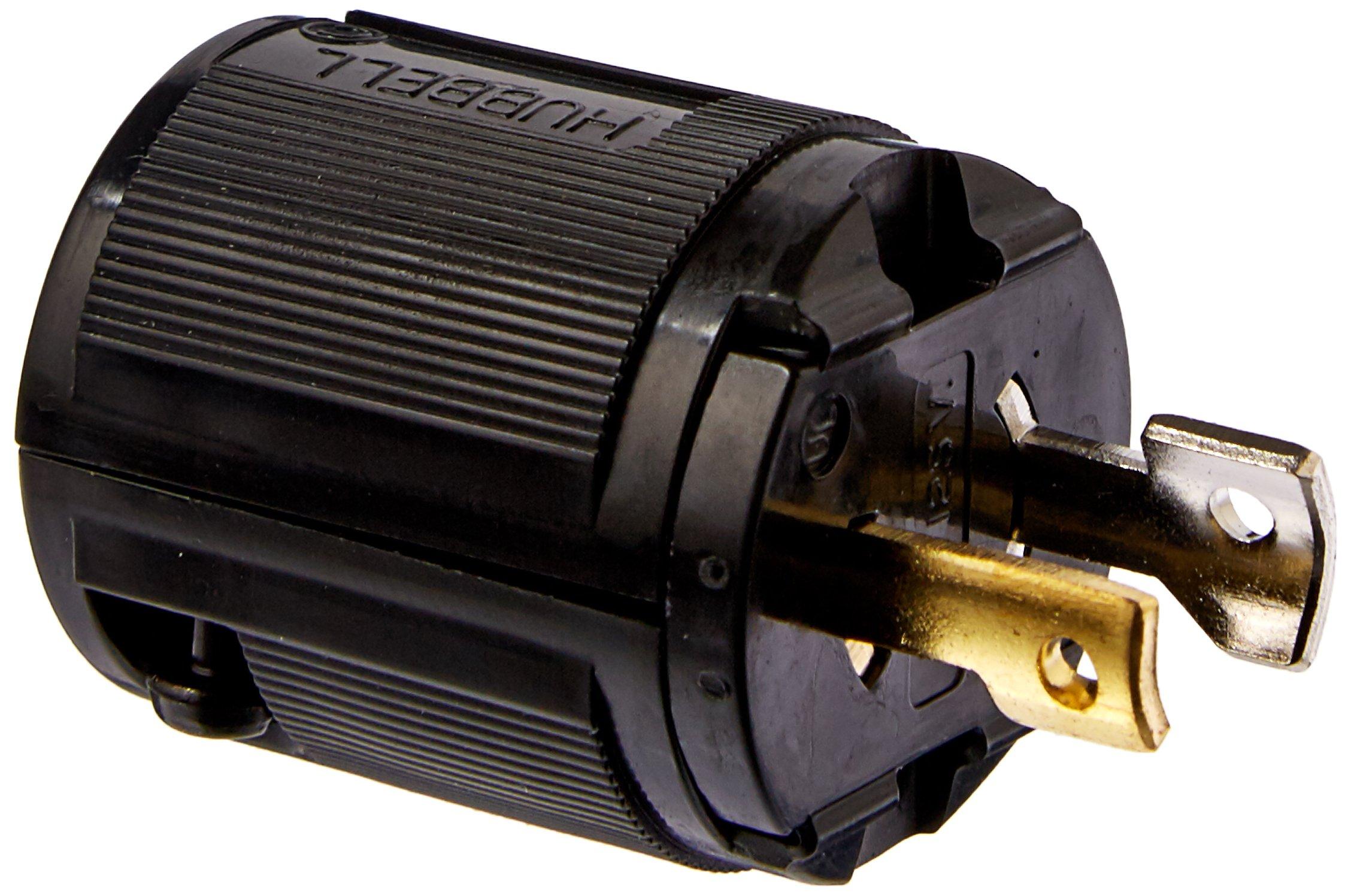 Hubbell HBL7465V Locking Plug, Midget, 15 amp, 125V, Ml-1P