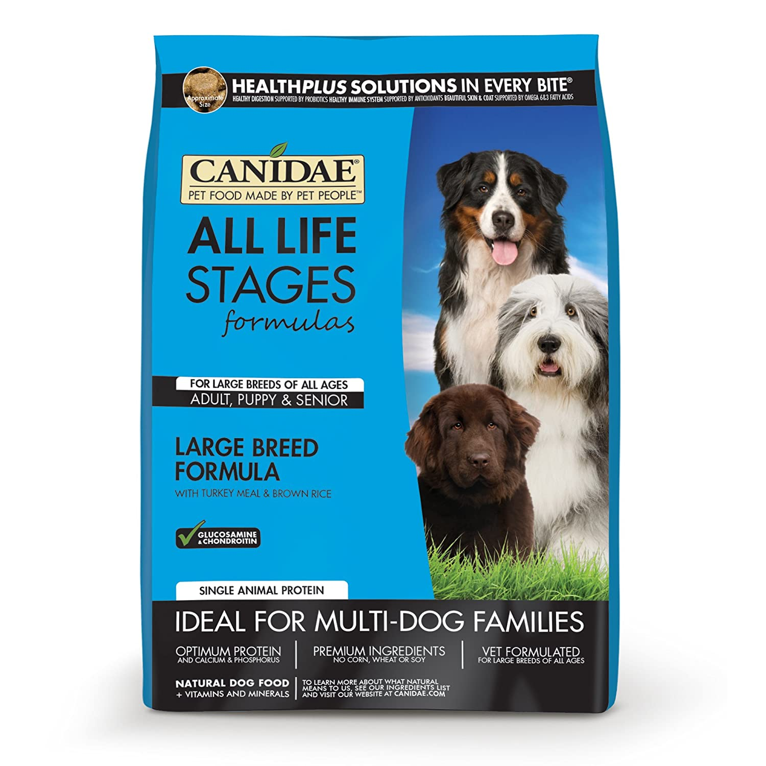 Amazon.com: CANIDAE All Life Stages Large Breed Dog Dry Food Turkey ...