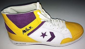 Magic Johnson Lakers Signed White Yellow Purple Converse Weapon Shoe BAS  B81742 - Beckett d199dc3a2