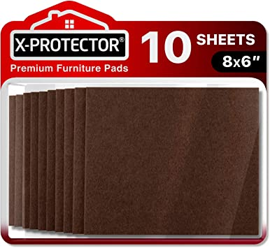 Felt Furniture Pads X Protector 10 Pack Premium 8 X6 Heavy Duty 1 5 Felt Sheets Cut Furniture Felt Pads For Furniture Feet You Need Best Furniture Pads For Hardwood Floors
