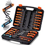 REXBETI Magnetic Screwdriver Set, 63 in 1 Multifunctional Repair Tool Kit with Slotted Phillips Screwdrivers, Precision…