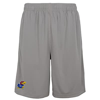 Kansas Jayhawks Gen2 Youth Gray Plain Shorts