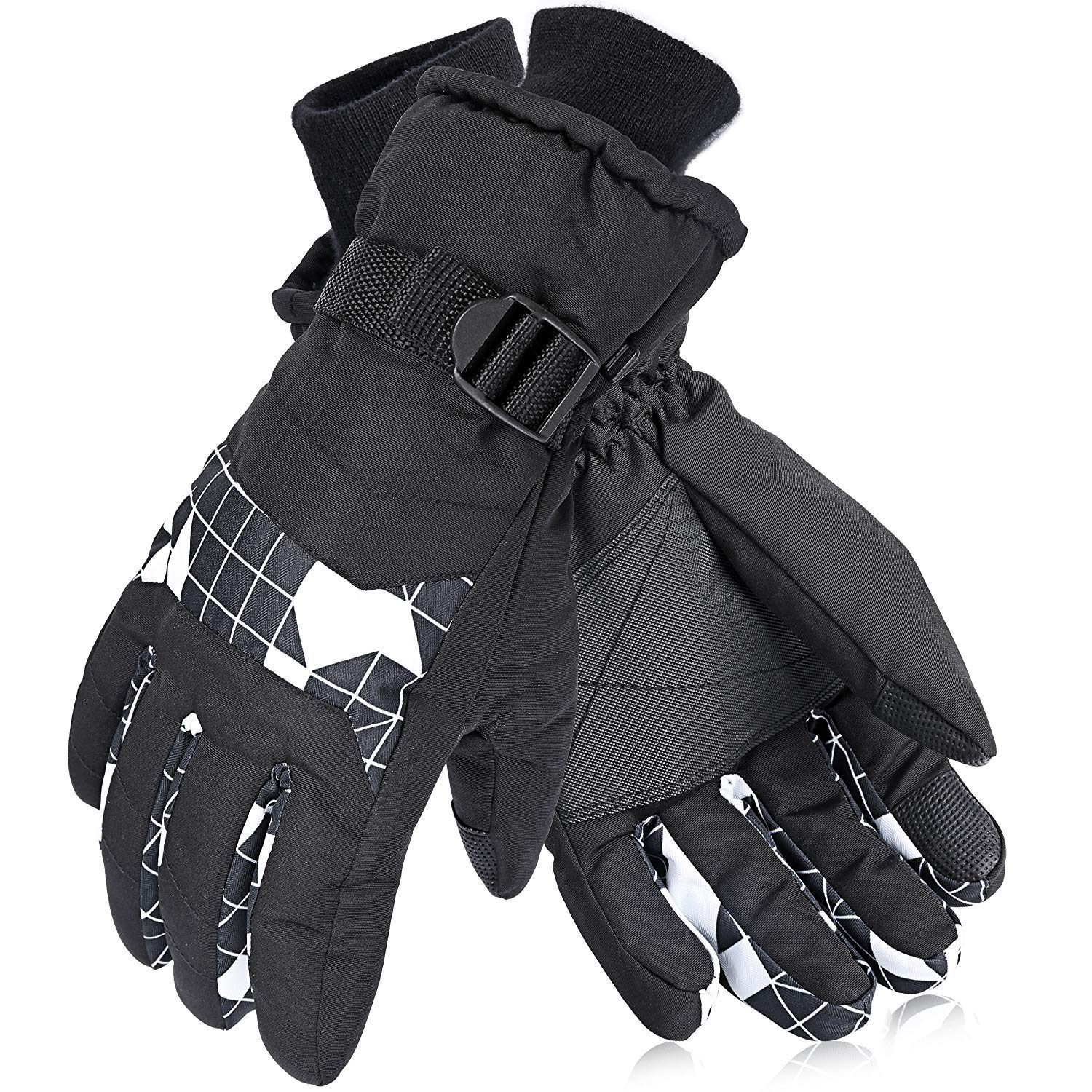 AsDlg Ski Glove Gloves Waterproof Windproof for Men, Women, Boys, Girls Winter Outdoor Sports Warm Couple Snowboard Gloves Thermal Warm Snow Skiing Snowboarding Snowmobile with Adjustable Cuffs by AsDlg