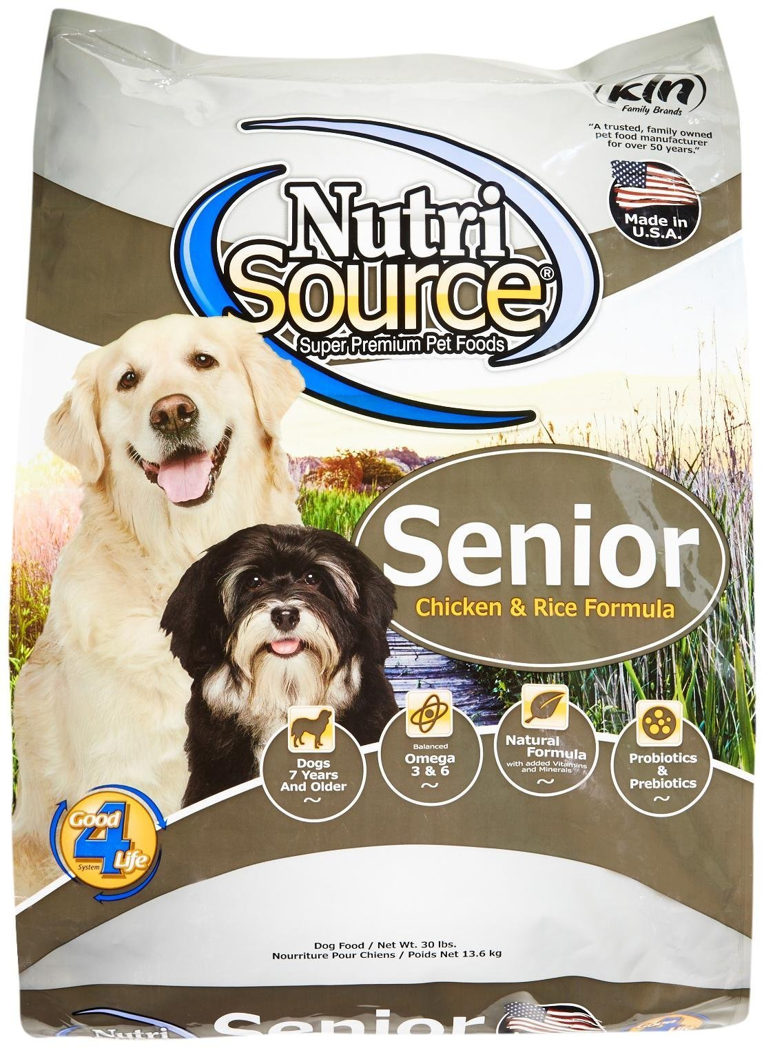 Tuffy'S Pet Food 131135 Nutrisource Senior Dog Chicken/Rice Food, 30-Pound by Tuffy's Pet Food
