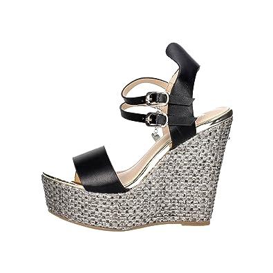 Chaussures Femme Braccialini Sandales Marron Cuir Textile Ah380 r9vl2h