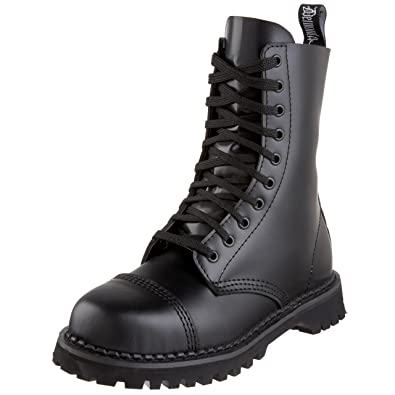 Pleaser Mens Rocky 10 Boot,Black Leather,4 ...