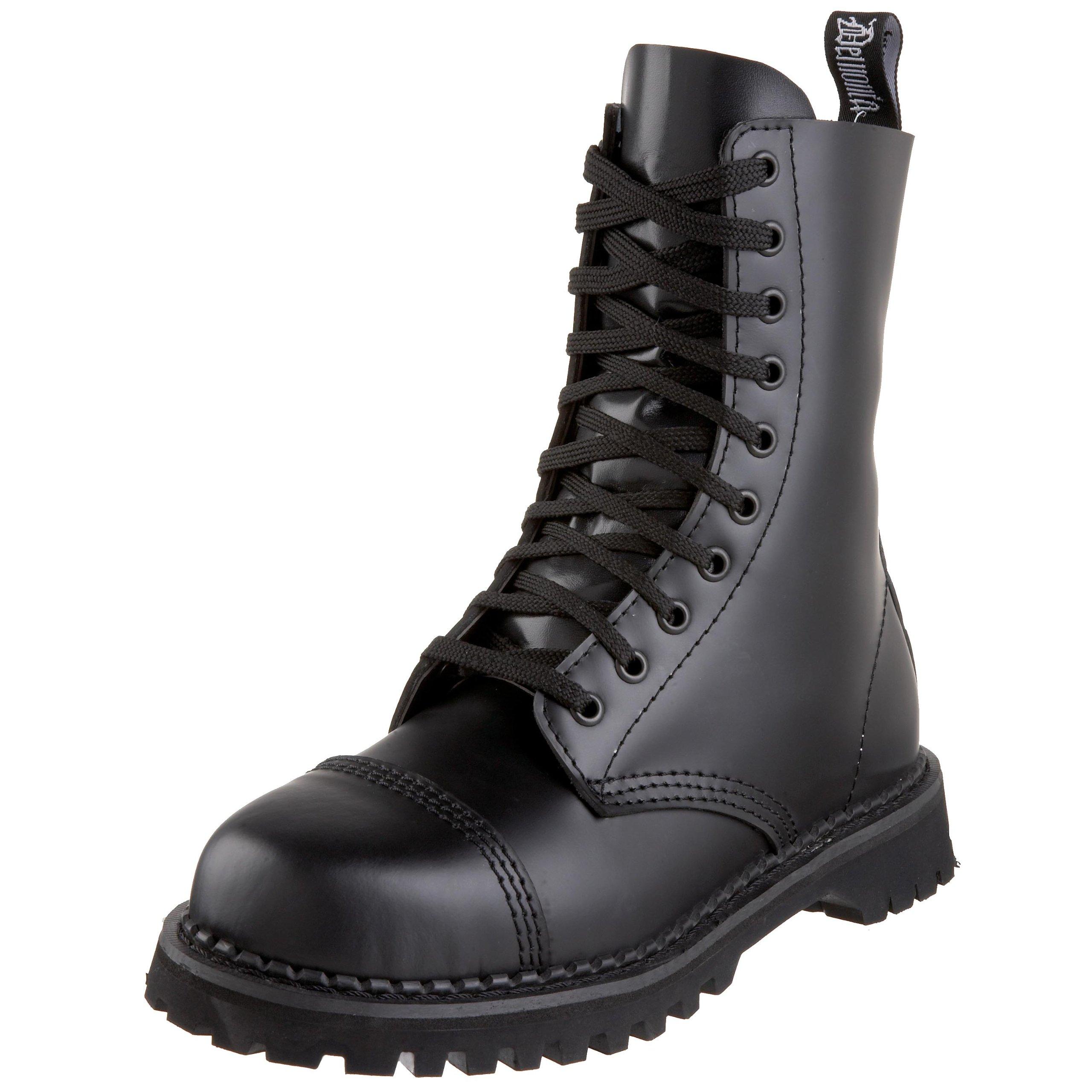 Pleaser Men's Rocky 10 Boot,Black Leather,9 M US
