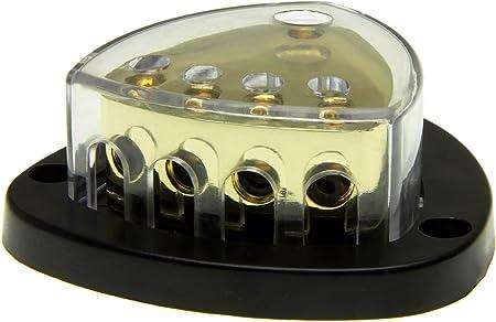 12v Strom Kabel Verteiler Block Auto Kfz Verstärker 1x 16mm 4x 10mm 1 Zu 4 Auto