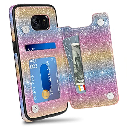 Amazon.com: HianDier Funda tipo cartera para Galaxy S7 Edge ...