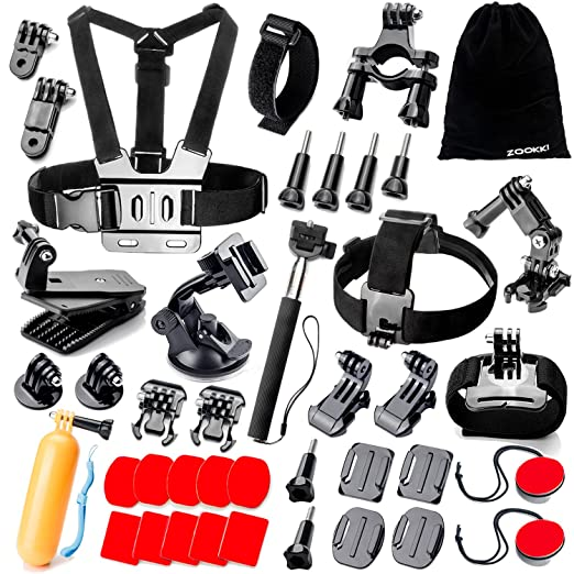 497 opinioni per Zookki 40 in 1 Accessori Kit per GoPro Hero 5 4 3+ 3 2 1 Black Silver and SJ4000