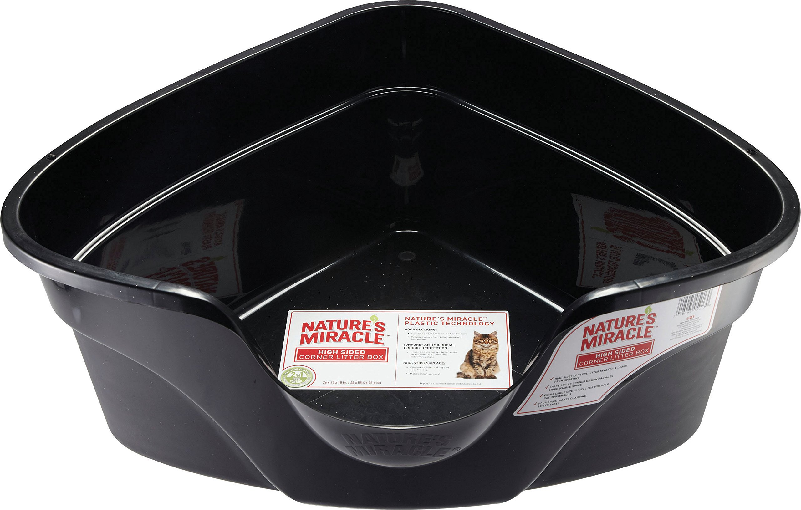 Nature's Miracle Advanced High Sided Corner Litter Box (P-5913)