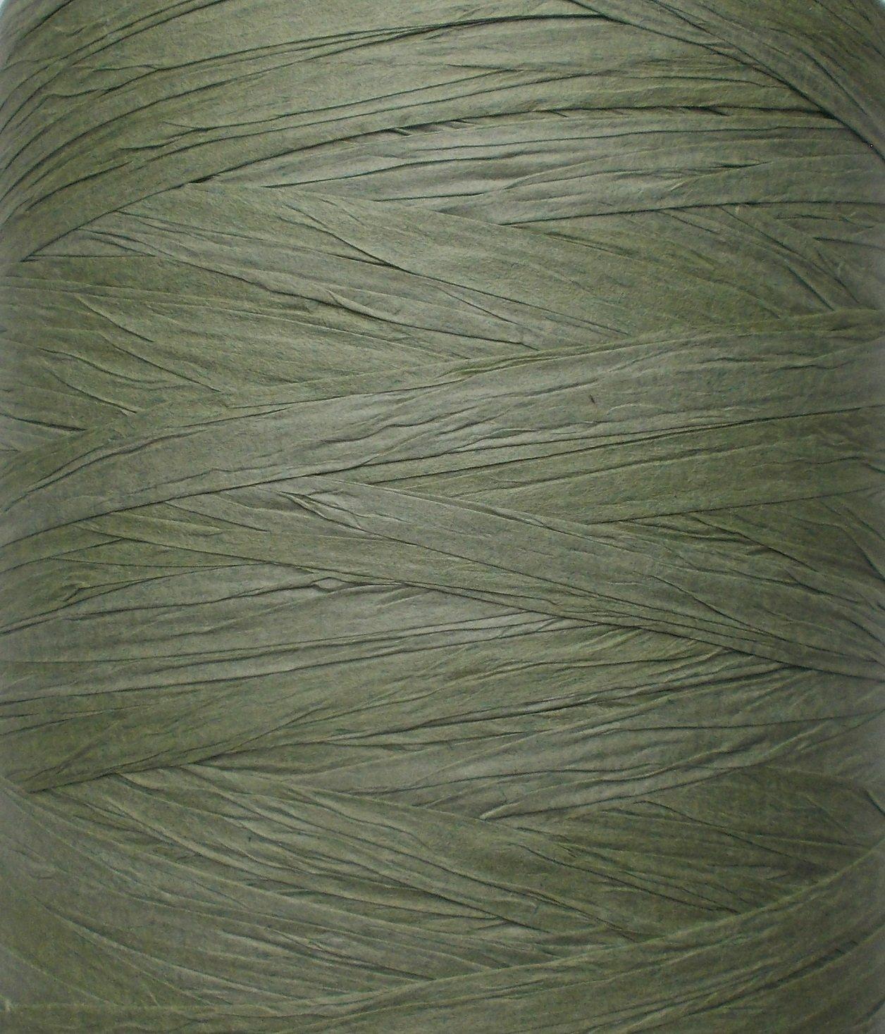 200 m, rollo en algas color verde Cinta de rafia de papel ecol/ógico