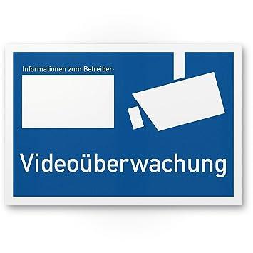 Video Vigilancia Cartel según DIN 33450 (Horizontal, 30 x 20 ...