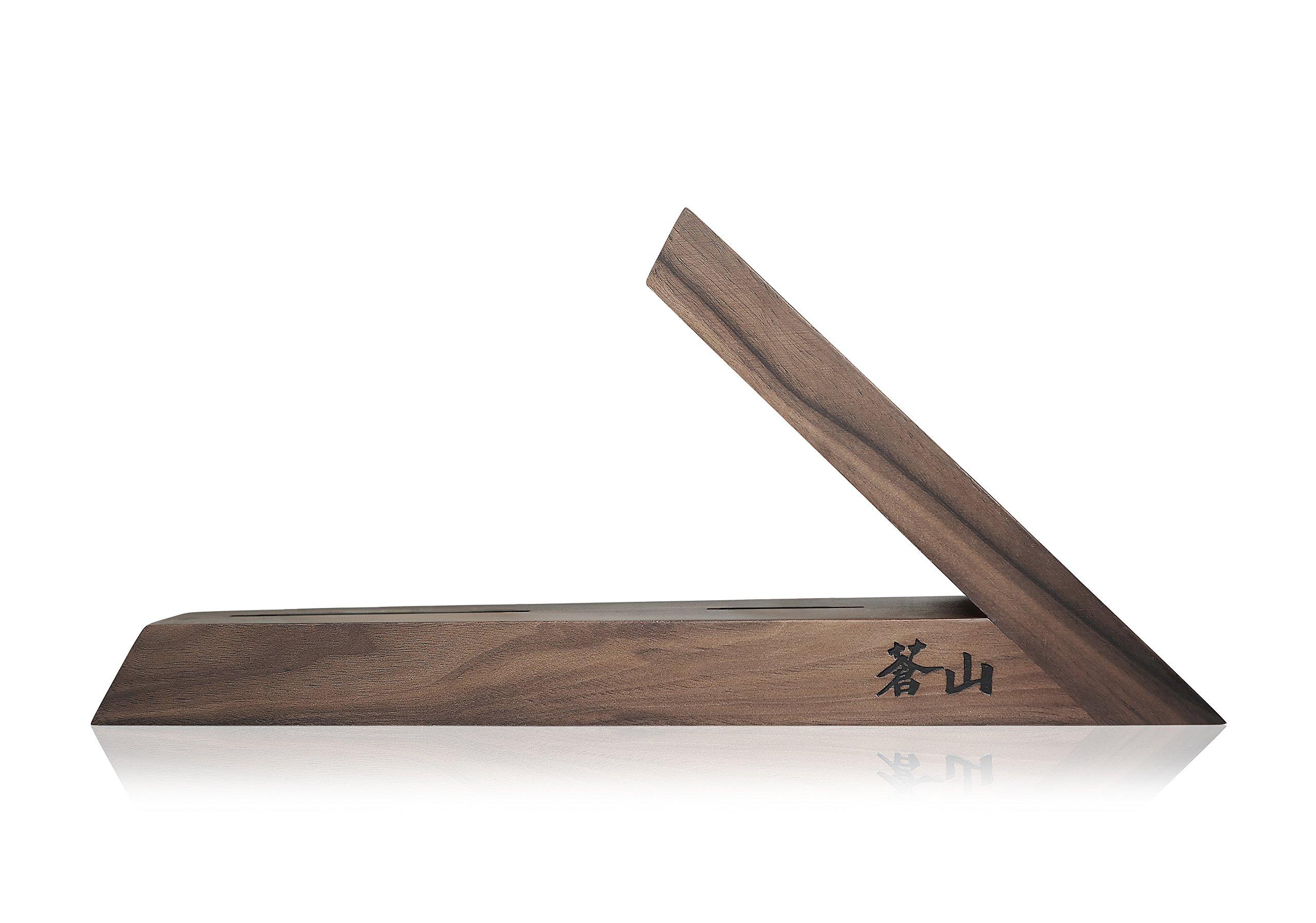 Cangshan 1021240 Triangle Walnut Wood Knife Block, Two Slots