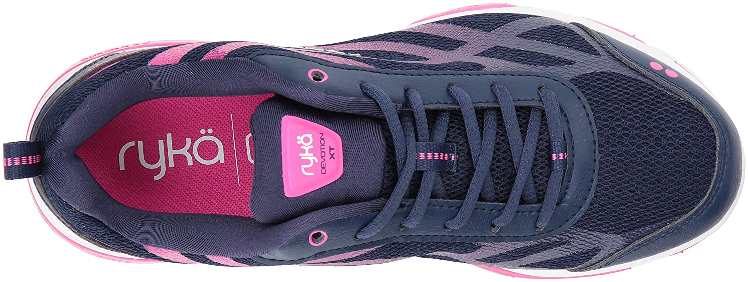 Ryka Women's Devotion XT Cross Trainer B01NB10HH9 11 B(M) US|Medieval Blue/Athena Pink/White