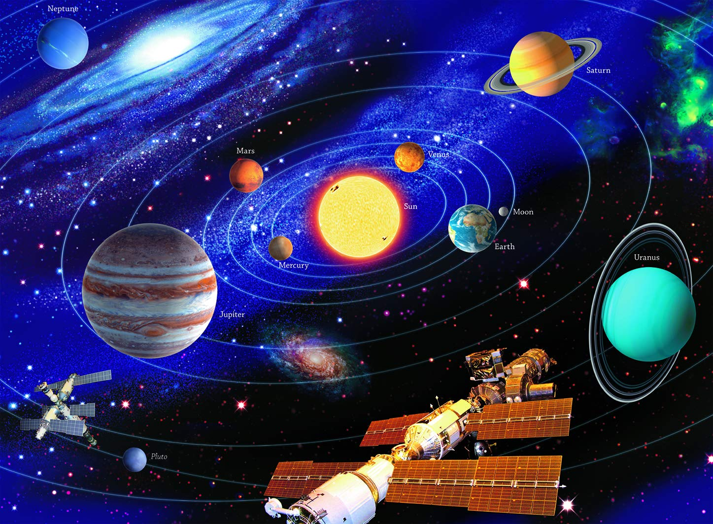 Ravensburger The Solar System - 200 Piece Jigsaw Puzzle for Kids – Every Piece is Unique, Pieces Fit Together Perfectly