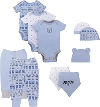 Lamaze Baby-Boys LA3103643I18 Baby Organic 10 Piece Gift Set Layette Set