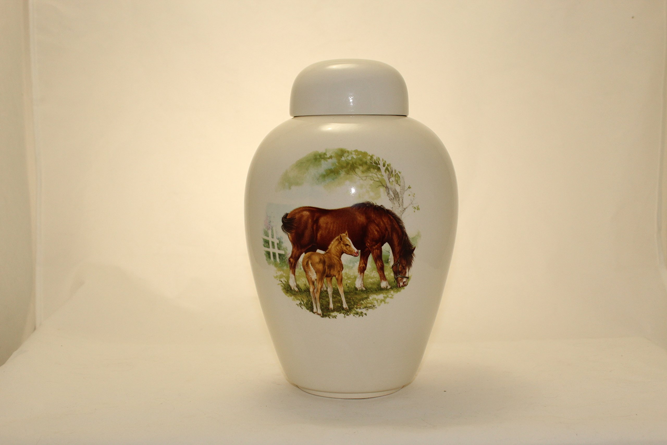 Horse-Funeral Urn - Cremation Urn for Human Ashes - Hand Made Pottery