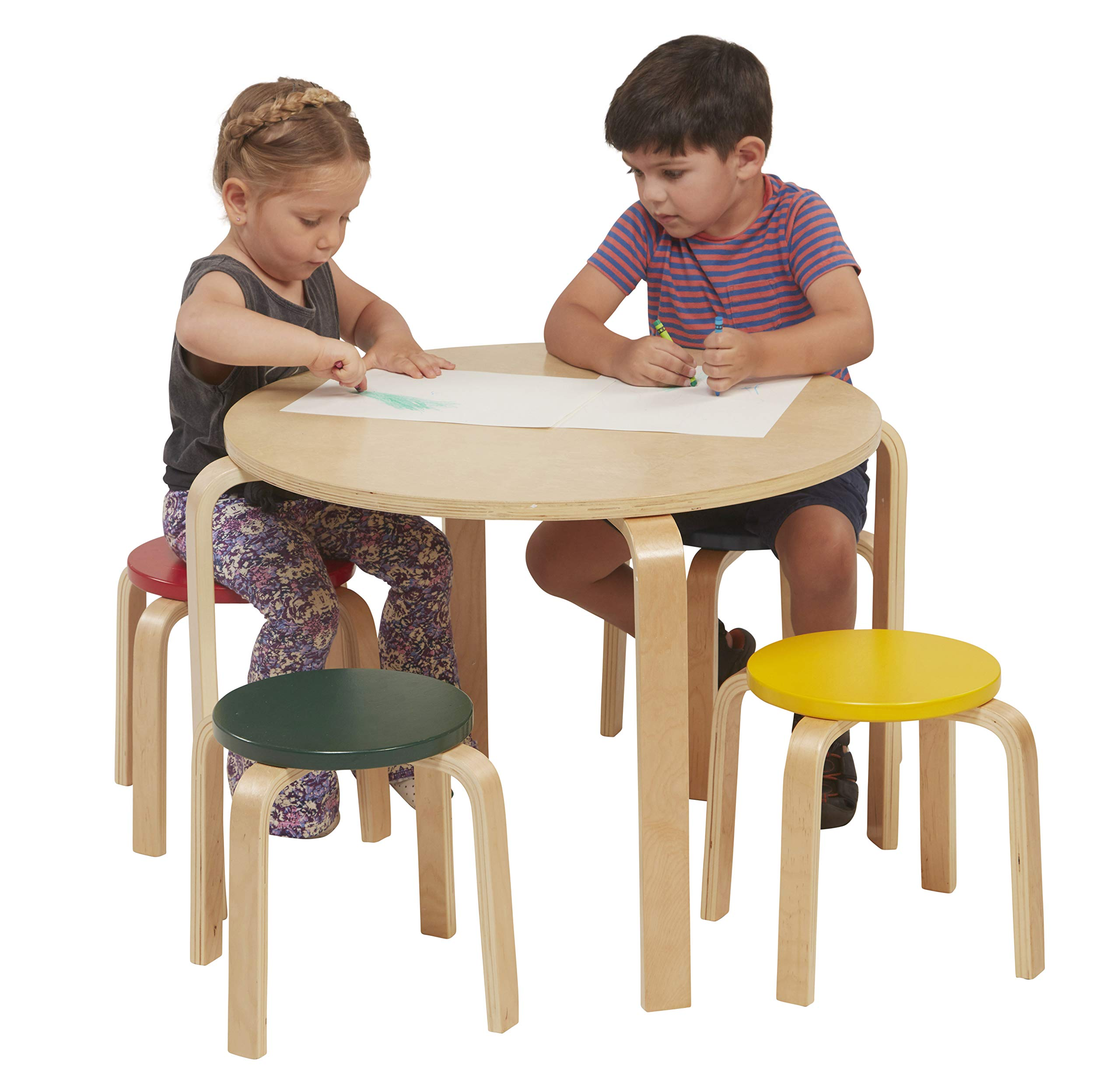 Miraculous Details About Ecr4Kids Bentwood Table And Stool Set For Kids Assorted Beatyapartments Chair Design Images Beatyapartmentscom