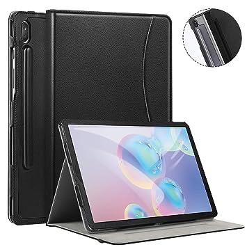 Ztotops Funda Carcasa para Samsung Galaxy Tab S6 2019, Cuero Premium Carcasa Cover con Pencil,Multiángulo, función Auto-Activa para Samsung Galaxy Tab ...