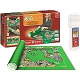 Outletdelocio. Pack Puzzle Roll 3000 XXL. Tapete universal para transportar/guardar puzzles hasta 3000 piezas + Pegamento puzzles