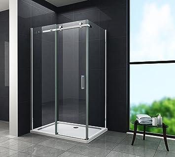 Duschabtrennung glas schiebetür  8 mm Designer Duschkabine Duschabtrennung Schiebetür Dusche Echt ...