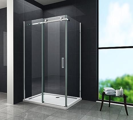 Glas Duschabtrennung.8 Mm Designer Duschkabine Duschabtrennung Schiebetür Dusche Echt Glas 120 X 80 X 195 Cm Tela Ohne Duschtasse
