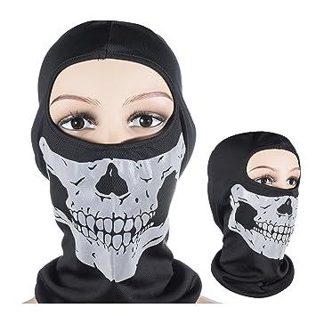 Máscara de Calavera 3D Multifunción Bandana Braga Hombre Pasamontañas de Calavera Braga de Cuello Casco Moto