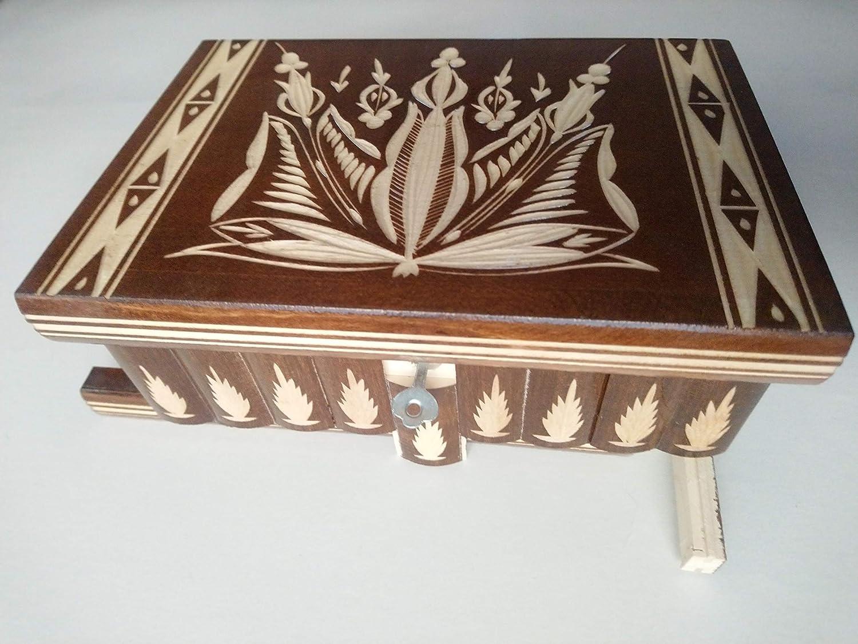 Caja grande puzzle , caja enorme del rompecabezas de la caja marron caja secreta, caja mágica, caja de joyería, caja hecho a mano,caja tallada de la sorpresa, juguete de madera para los