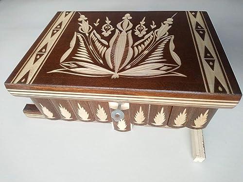 Caja grande puzzle , caja enorme del rompecabezas de la caja marron caja secreta, caja mágica, caja