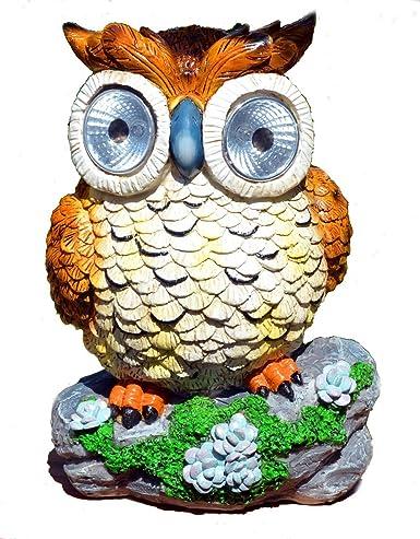 Solar Powered Owl Outdoor LED Garden Light