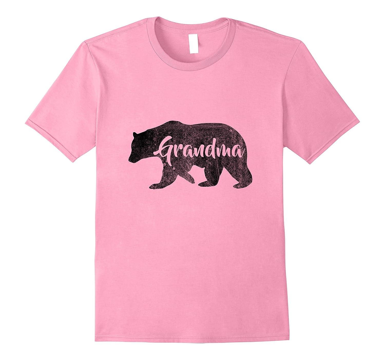 13ee6682 Womens Grandma Bear T-Shirt Outdoors Family Tee for Grandma-RT