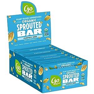 Go Raw Pumpkin Seed Bars   Gluten Free Snacks   Vegan   Organic   Paleo   Superfood (20 Large Bars)