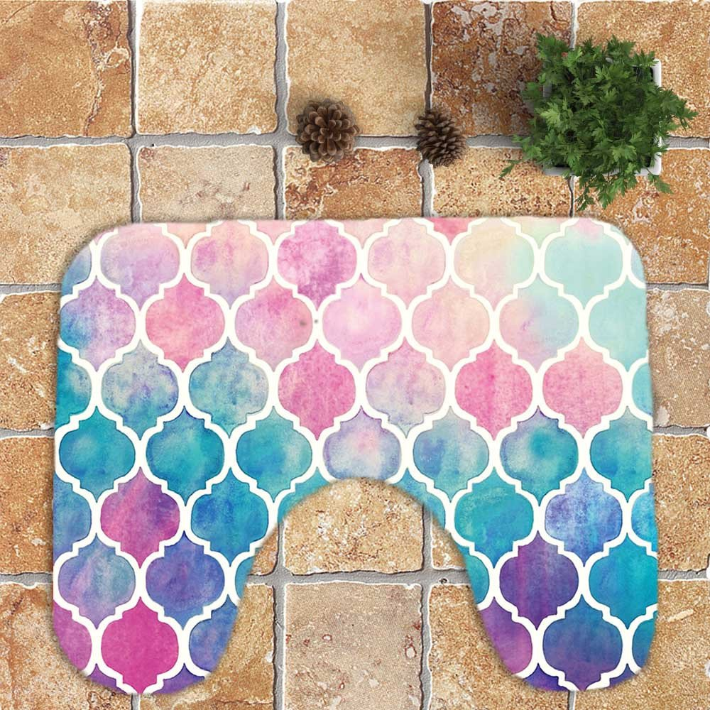 3 St/ück Matte rutschfest Bad-Teppich Toiletten-Abdeckung Toilettenmatte Set Sockelwolldecke WoWer Badezimmer Teppich Set Badematte Deckel Toilettendecke Pedestal-Teppich