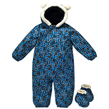 3e9a33ccb Trespass Baby Unisex Bye Byes Faux Fur Trim Waterproof Ski Suit (6 ...
