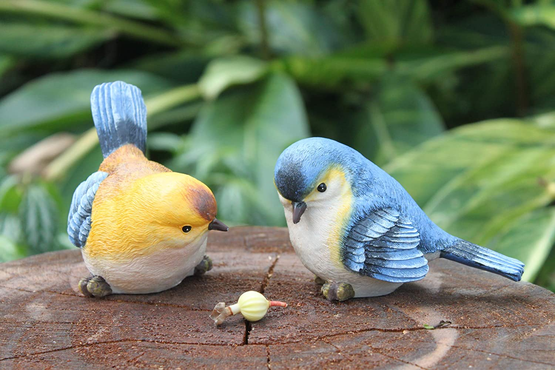 Funny Sculpture Ornaments D/écor Best Indoor Outdoor Statues Yard Art Figurines for Patio Lawn House Anewgift Garden Bird Statue
