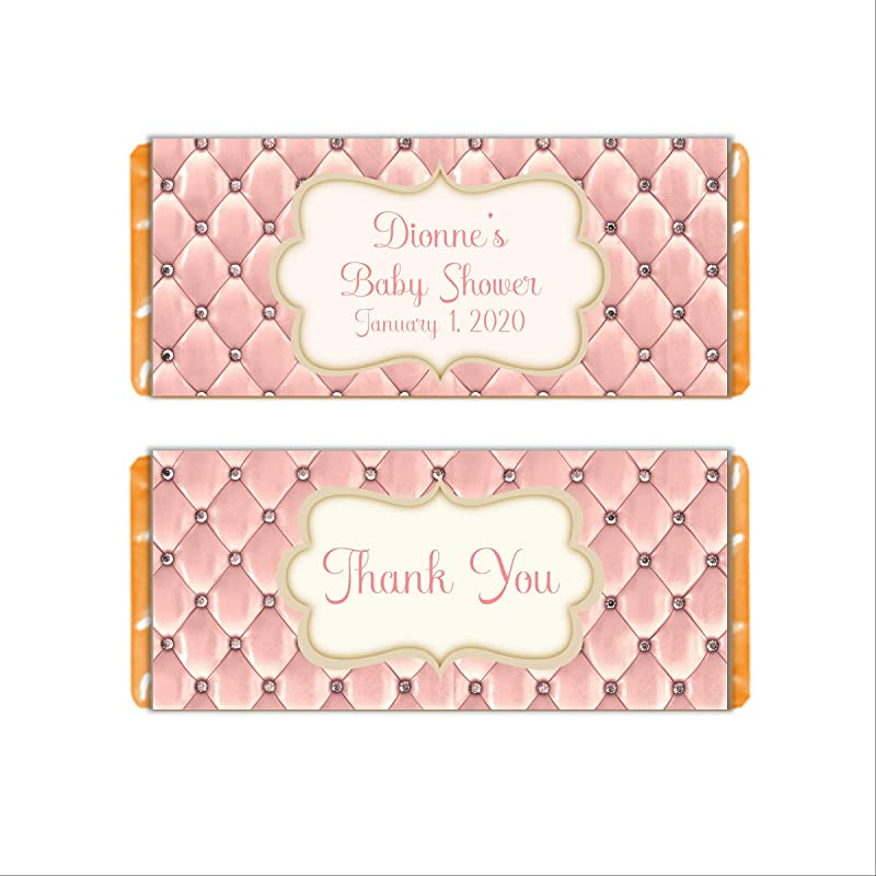 Girl Princess Party Candy Labels Princess Candy Bar Label Princess Candy Wrapper Princess Candy Label Pink Hearts Label Personalized