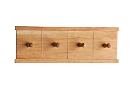 Premier Housewares - Colgadores de madera de nogal para toallas (4 colgadores, 12,