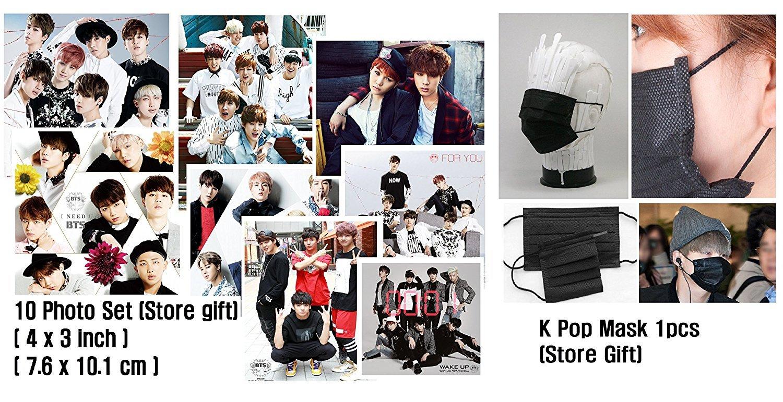 BTS - LOVE YOURSELF 承 [Her] [V ver.] +Photobook+Photocard+Folded Poster+ Store Gift 10 Photo Set + Kpop mask