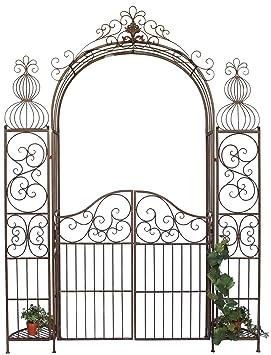 DanDiBo Ambiente 120853 Arche à roses en fer forgé avec portail 265 x 190 cm