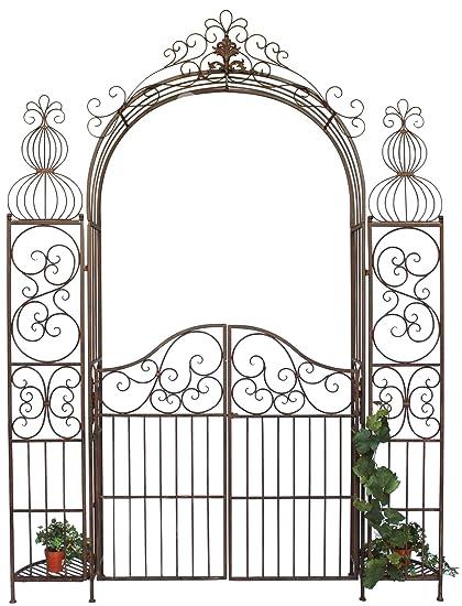 Dandibo Ambiente 120853 Arche A Roses En Fer Forge Avec Portail 265